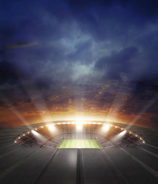 das stadion - fußball wettbewerb stock-fotos und bilder