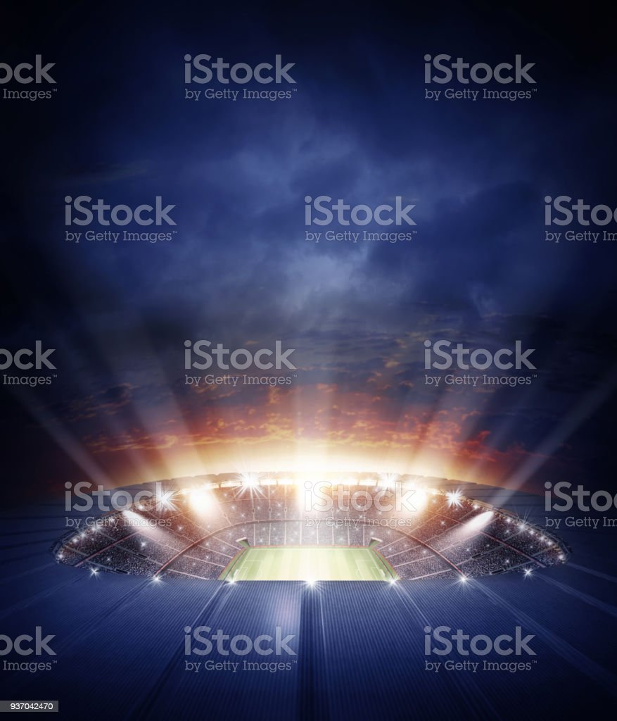 The stadium stock photo