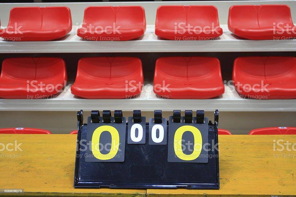 The stadium scoreboard stock photo