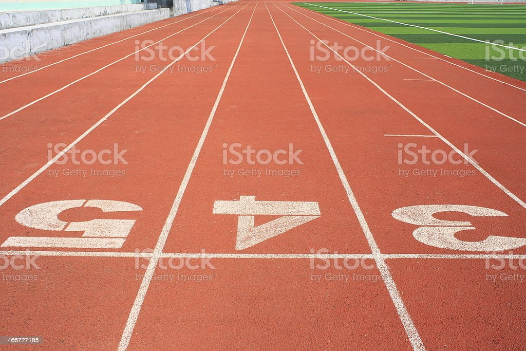The stadium track stock photo