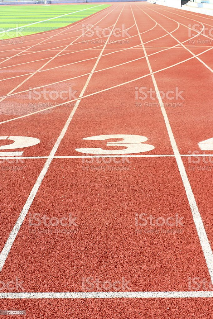 The stadium track royalty-free stock photo