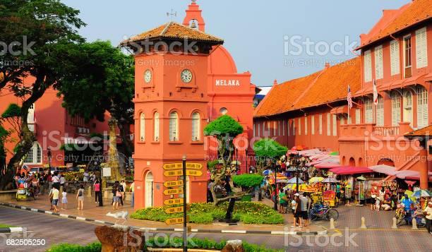 De Stadthuys Malakka Maleisië Stockfoto en meer beelden van Azië