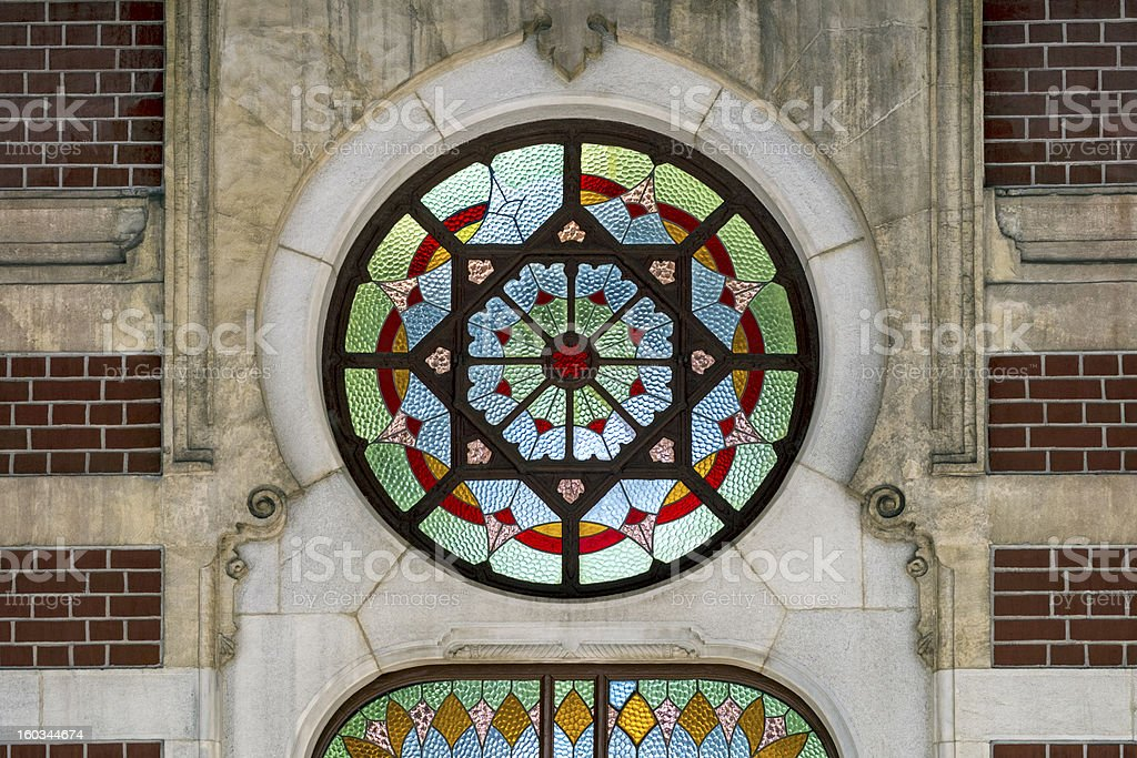 the stained glass royalty-free stock photo