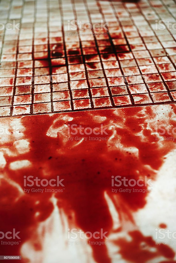 The stains of murder stock photo