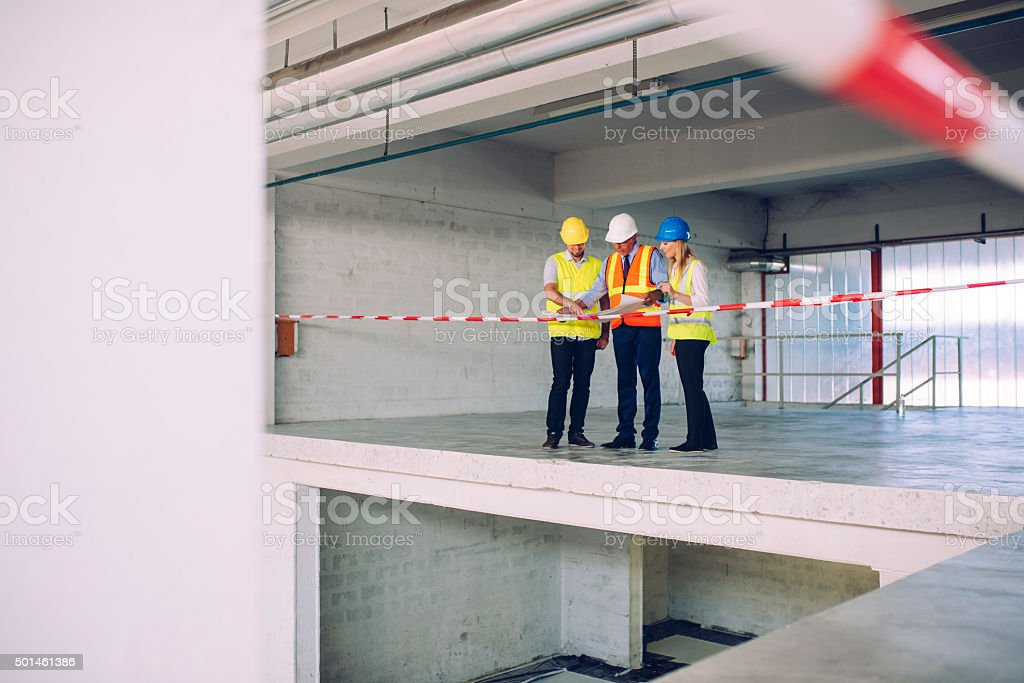 The stairs will be here! stock photo