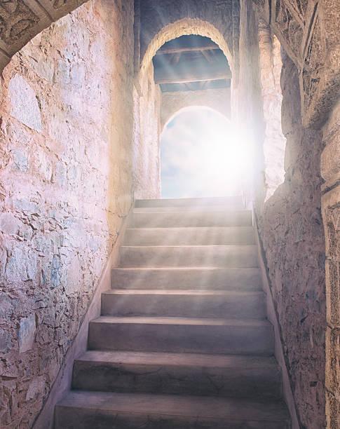 die stairway to eternity - engelportal stock-fotos und bilder