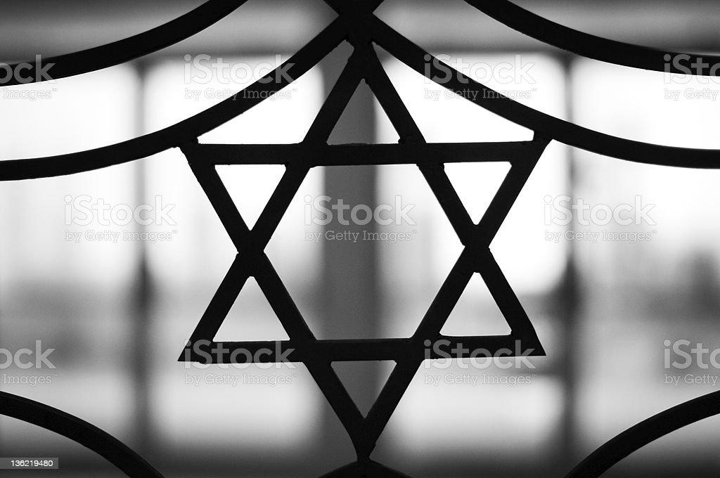 The Star of David signifying Jewish religion stock photo