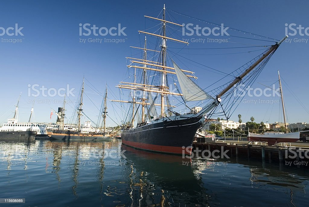 The Star of India Tall Sail Ship stock photo