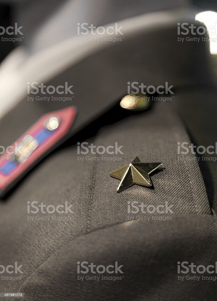 The star of Lieutenant stock photo