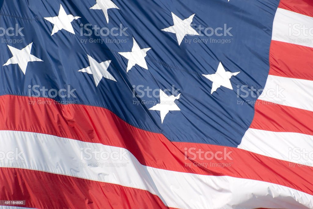The Star Spangled Banner Flag - Baltimore, Maryland stock photo
