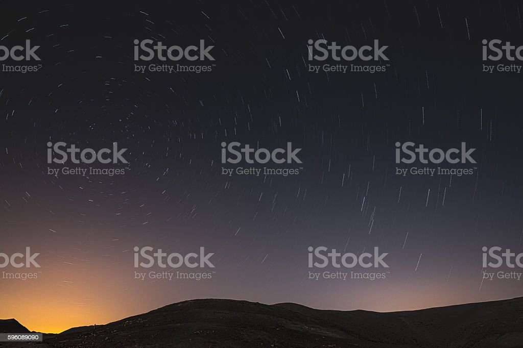 the starry sky royalty-free stock photo