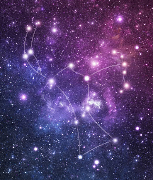 The Stars constellation of Orion stock photo