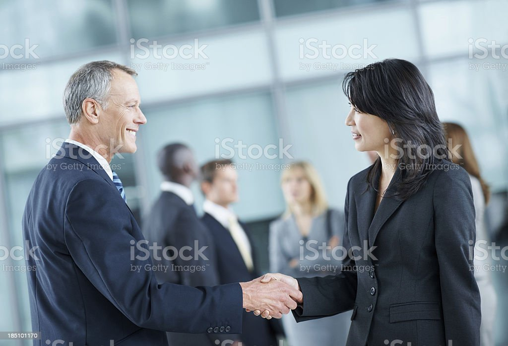 The start of a great partnership royalty-free stock photo