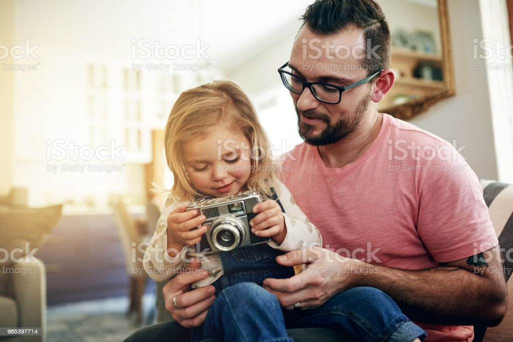 The start of a lifelong passion for photography zbiór zdjęć royalty-free