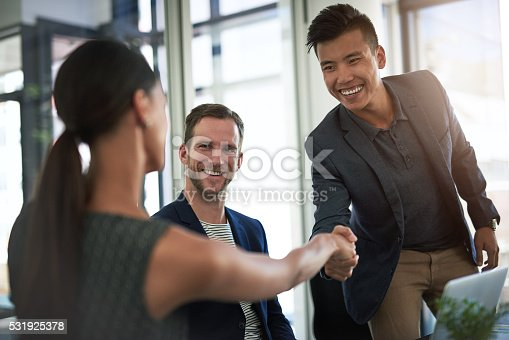 istock The start to a successful partnership 531925378