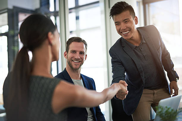 The start to a successful partnership stock photo