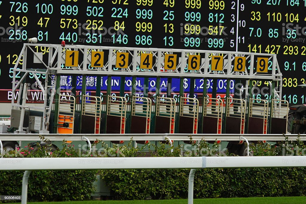The Starting Gate royalty-free stock photo