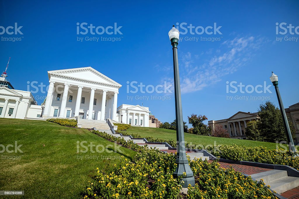 The State Capital building in Richmond Virginia royaltyfri bildbanksbilder