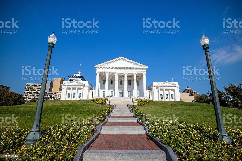 The State Capital building in Richmond Virginia royaltyfri bildbanksbilder