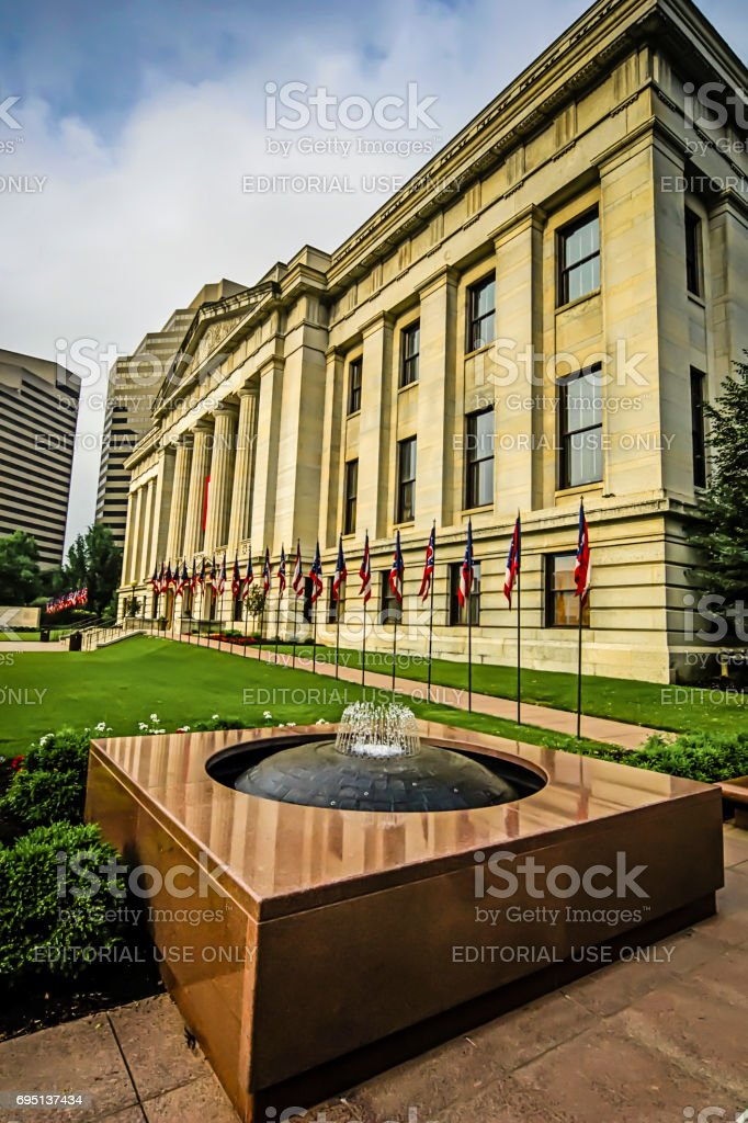 The State Capitol building in downtown Comubus, OH USA stock photo