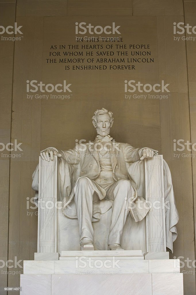 The Statue of Abraham Lincoln stock photo