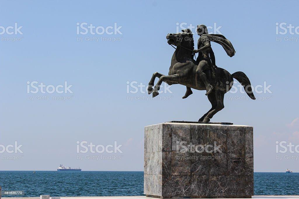 A estátua de Alexandre o Grande - foto de acervo