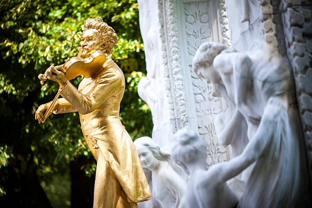 Der Johann Strauss-Denkmal im stadtpark – Wien, Österreich – Foto