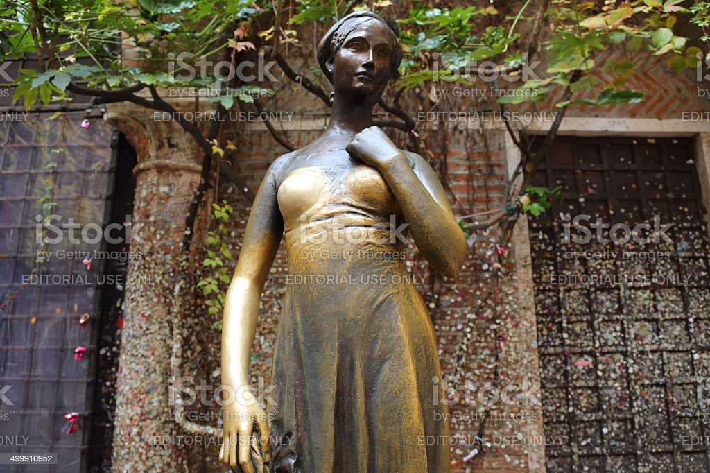 The statue of Juliet in Verona, Italy stock photo