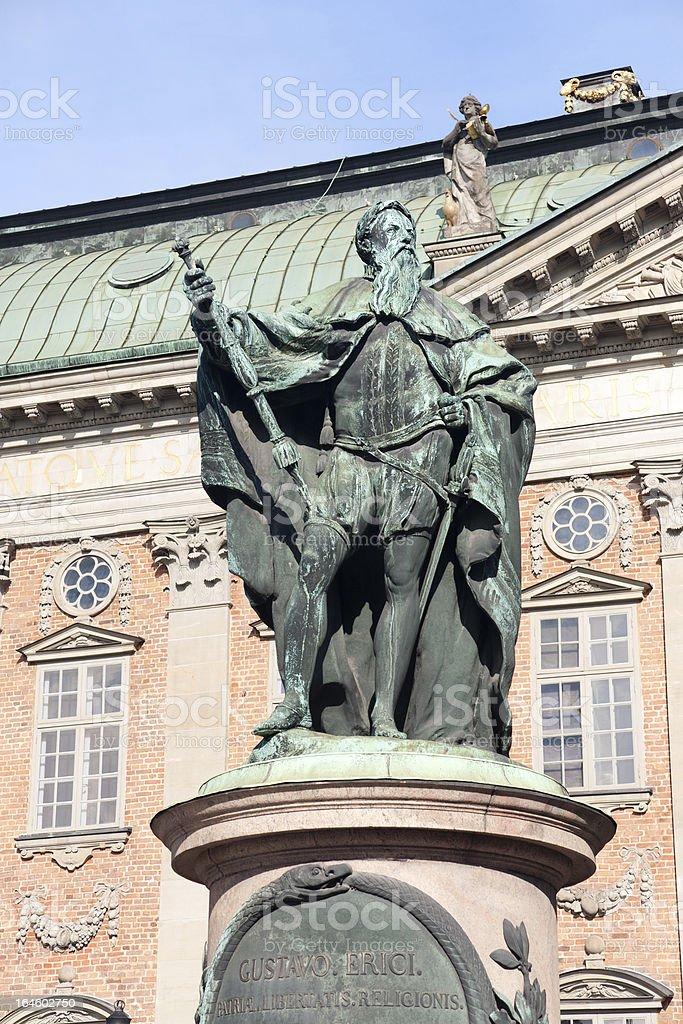 Die Statue von König Gustav Vasa, Stockholm, Schweden – Foto