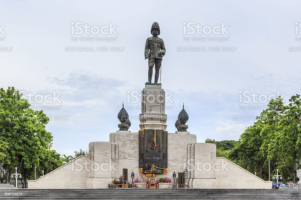 The statue of King of Siam Vajiravudh stock photo