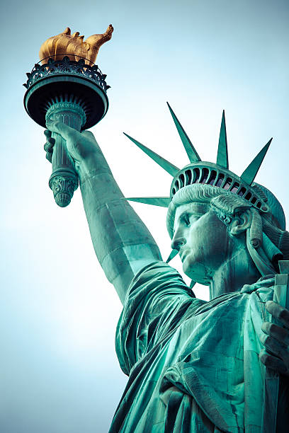 The Statue of Liberty at New York City stock photo