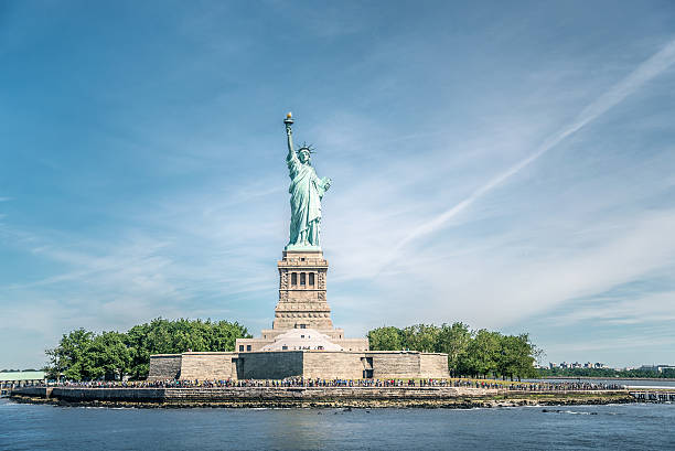 The Statue of Liberty in New York City stock photo