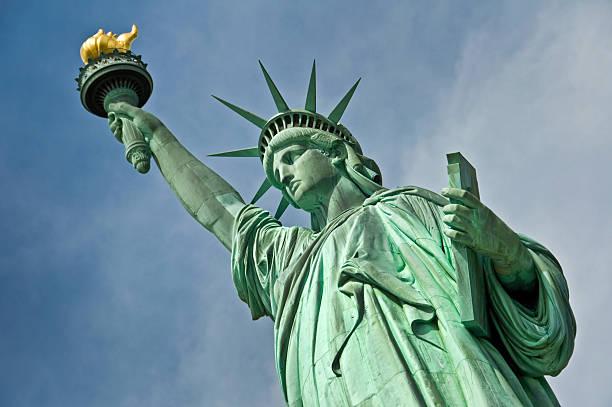 The statue of liberty, New York City, USA stock photo