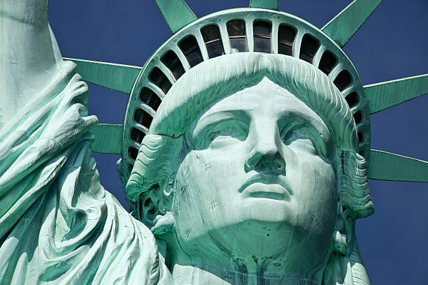 The Statue of Liberty the Detail stock photo