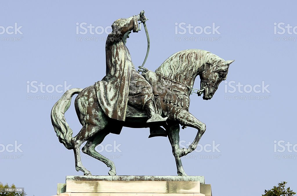 the statue of Mehmet Ali in Kavalla royalty-free stock photo