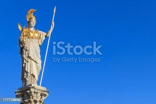istock The statue of Pallas Athena on blue background Vienna 1177106492