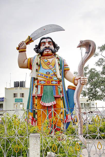 The statue of the demon Mahishasura, Mysore stock photo