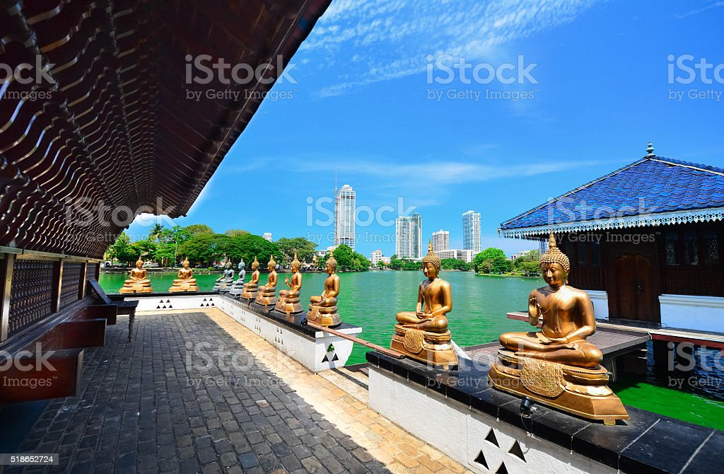The Statues Of Seema Malakaya In Sri Lanka stock photo