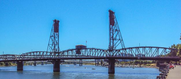 Die Stahlbrücke In Portland Oregon Stockfoto und mehr Bilder von Anlegestelle