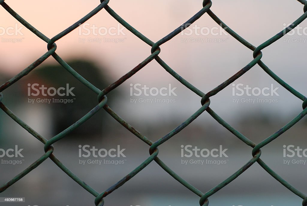 the steel net close up stock photo