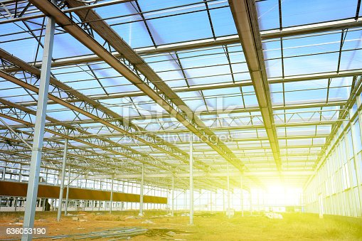 istock The steel structure 636053190