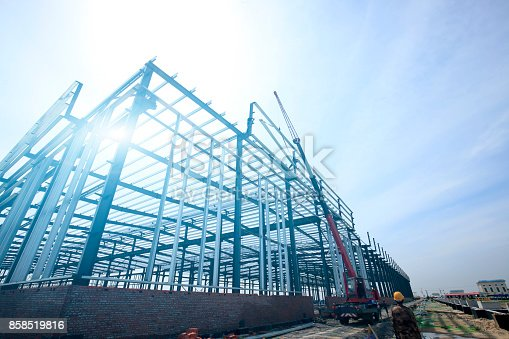 istock The steel structure 858519816
