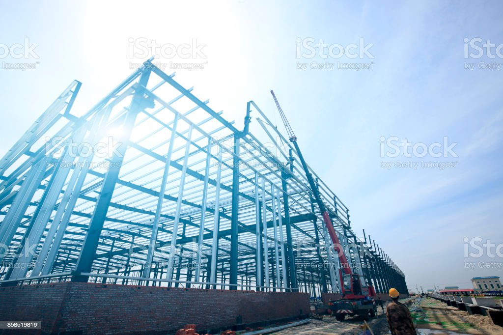 The steel structure - foto stock