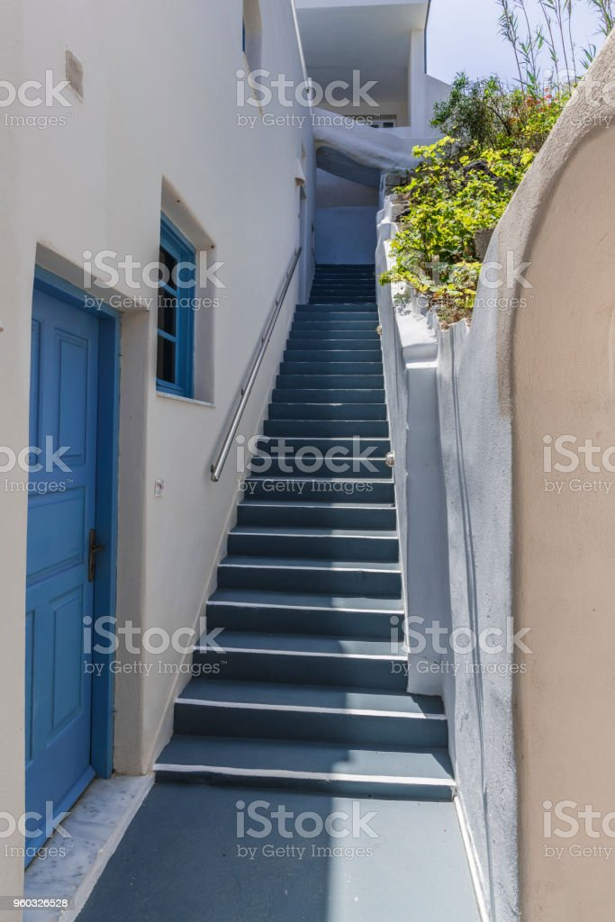 The Steep Stairs Of A Mediterranean Village Stock Photo