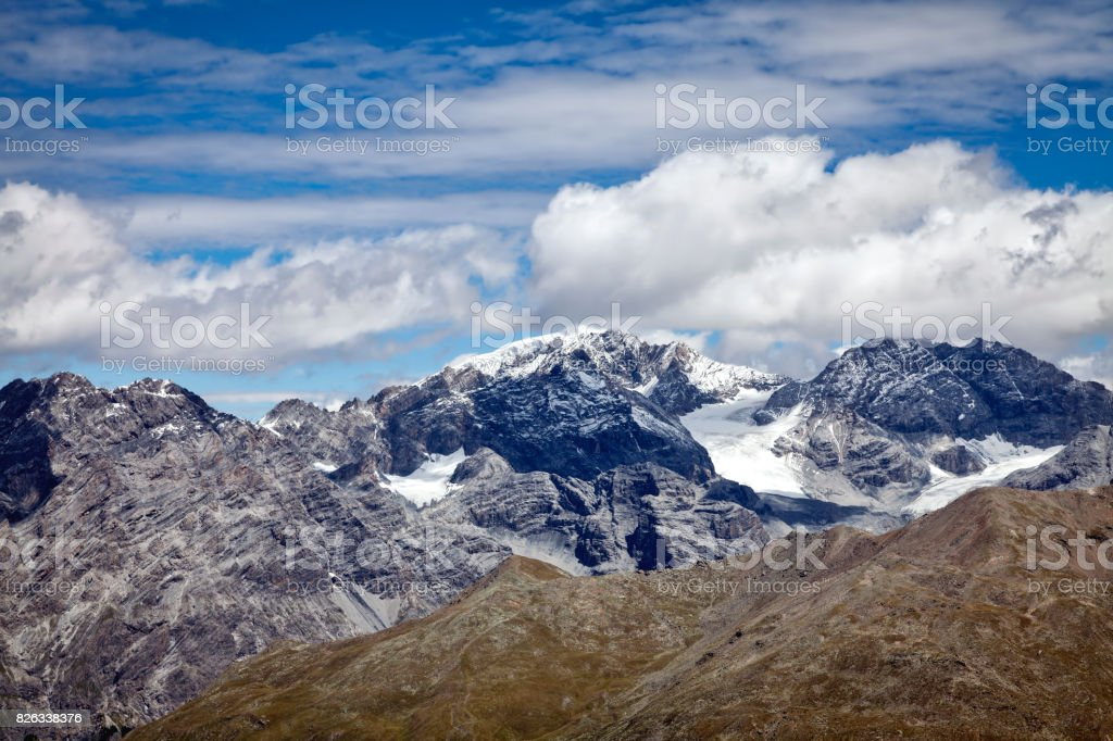 The Stelvio Glacier. Color image stock photo