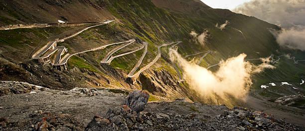 The Stelvio road stock photo