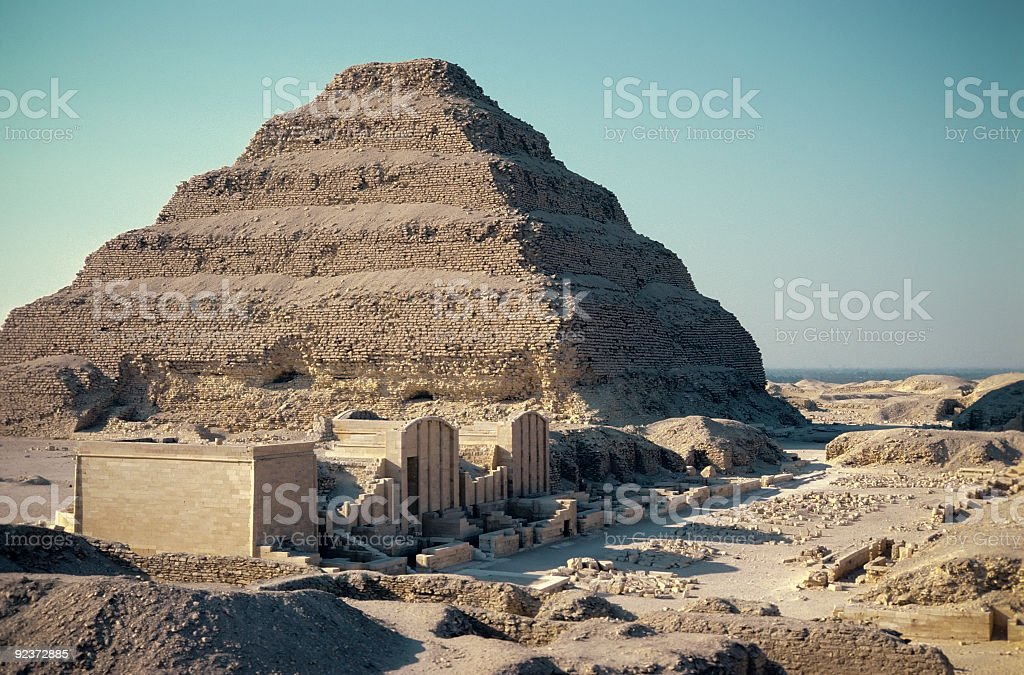 The Step Pyramid at Sakkara Egypt royalty-free stock photo