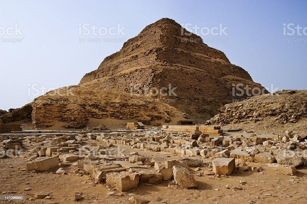 The step pyramid at Saqqara stock photo