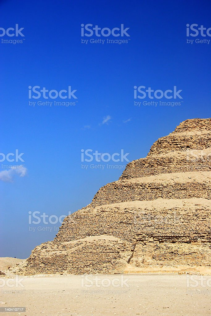 The Step Pyramid of Djoser abstract, Egypt royalty-free stock photo
