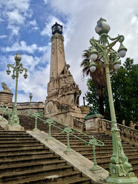 the steps to marseile railway station - mcdermp stock pictures, royalty-free photos & images